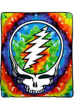 Grateful Dead Steal your Face Tie-Dye Fleece Throw Blanket - eDeadShop.com