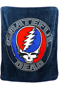 Grateful Dead Steal your Face Aztec Fleece Throw Blanket - eDeadShop.com
