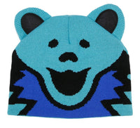 Grateful Dead Knit Beanie Bear Head Hat Blue
