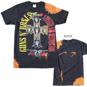 Guns n Roses Appetite Bleach Dyed T-Shirt - eDeadShop.com
