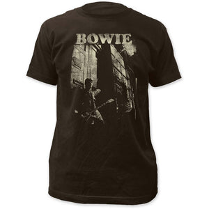David Bowie Guitar Fitted Jersey T-Shirt - eDeadShop.com