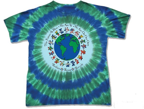 Grateful Dead Flag Bears Youth tie dyed t-shirt - eDeadShop.com