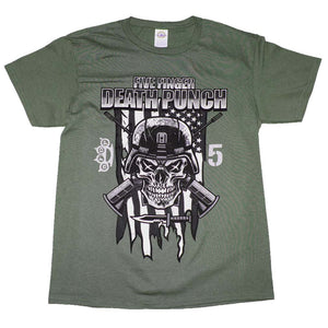 Five Finger Death Punch Infantry Special Forces T-Shirt - eDeadShop.com