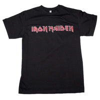 Iron Maiden Distressed Logo T-Shirt - eDeadShop.com