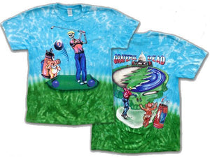 Grateful Golfer tie dyed t-shirt
