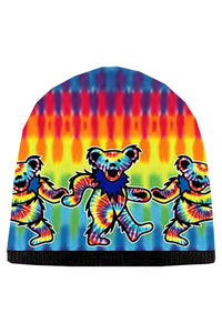 Grateful Dead Tie Dye Bears Knit Beanie Hat - eDeadShop.com