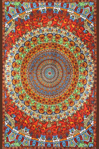 3D Grateful Dead Bear Vibrations Tapestry - eDeadShop.com