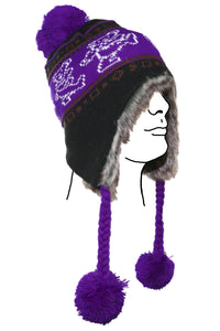 Grateful Dead Bears Ski Hat Purple - eDeadShop.com