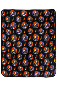 Grateful Dead Steal your Face Rainbow Fleece Throw Blanket