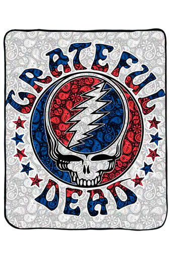 Grateful Dead SYF Paisley Fleece Throw Blanket
