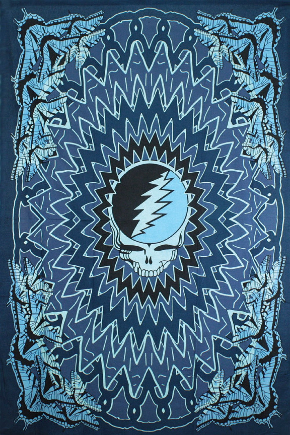Grateful Dead Steal your Face Butterfly Tapestry - eDeadShop.com