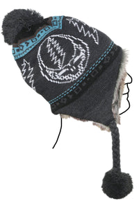 Grateful Dead Steal your Face Ski Hat in Grey