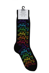 Men's Black Rainbow Skeletons Grateful Dead Socks