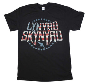 Lynyrd Skynyrd Stripes and Stars Logo T-Shirt - eDeadShop.com