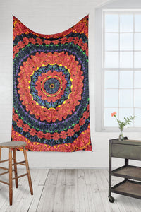 3D Blooming Butterfly Mandala Tapestry