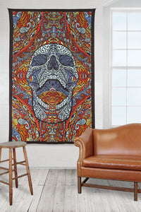 3D Mindful Skull Tapestry - Artwork by Chris Pinkerton