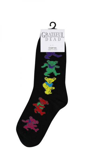 Men's Black Dancing Bear Grateful Dead Socks
