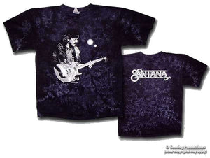 Santana -Solo- on Black Crinkle tie dye - eDeadShop.com