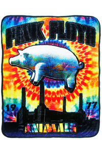 Pink Floyd Fleece Throw Blanket Animals