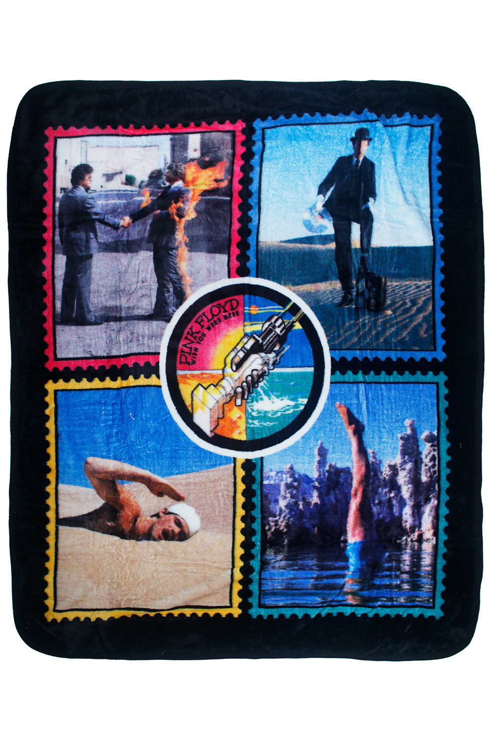 Pink Floyd Wish You Were Here Fleece Throw Blanket