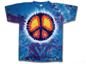 Peace Sign Youth tie dye t-shirt