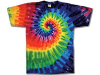 Rainbow Swirl Youth tie dye t-shirt