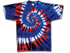 Red Wild and Blue Youth tie dye t-shirt