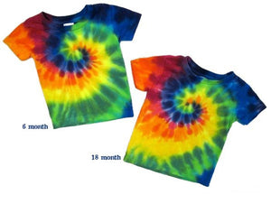 Rainbow Tie Dye Infant Shirt tie dyed t-shirt - eDeadShop.com