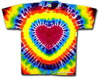 Tie Dye Heart Youth t-shirt
