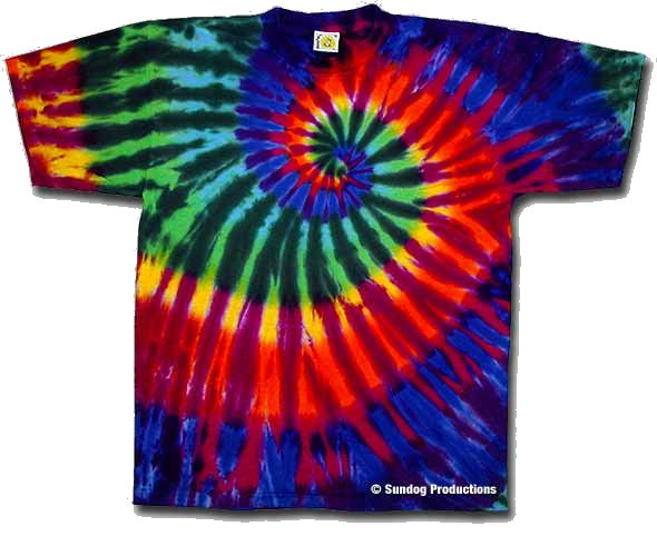 Extreme Rainbow Youth tie dye t-shirt - eDeadShop.com