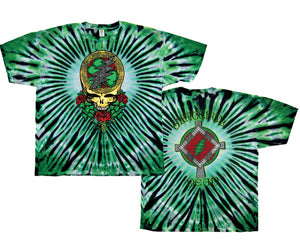 Grateful Dead Shamrock Short Sleeve tie dye t-shirt