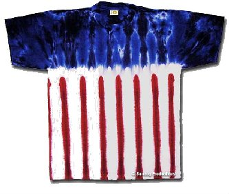 American Flag New Glory tie dye t-shirt