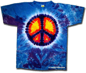 Peace Sign Tie Dye t-shirt - eDeadShop.com