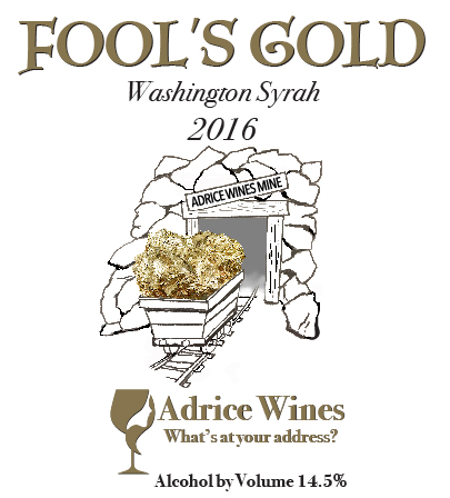 LARGE FORMAT - 2016 Fool's Gold Bourbon Syrah (750ml)