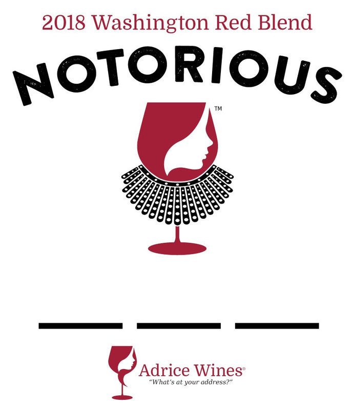 2018 NOTORIOUS _ _ _ Washington Red Blend (750ml)