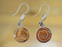 Load image into Gallery viewer, Silver Spiral Earrings