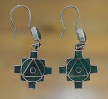 Load image into Gallery viewer, Hanging Chakana Earrings
