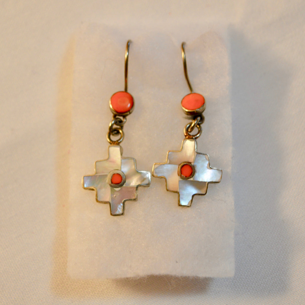 Silver Andean Earrings