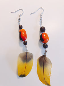 (Huacaria Collection) Amazonian Feather Earrings