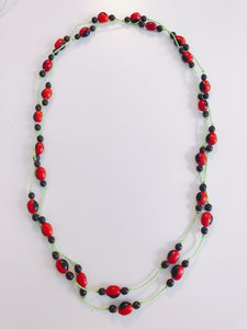 Double Knot Huayruro Necklace