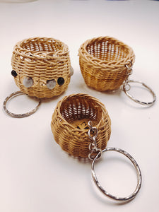 (Huacaria Collection) Amazonian Basket Keychain