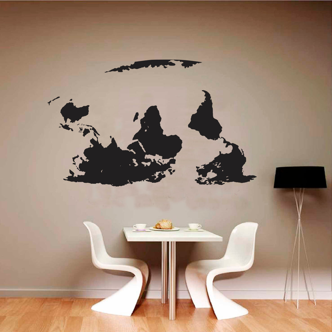 Upside Down World Map Vinyl