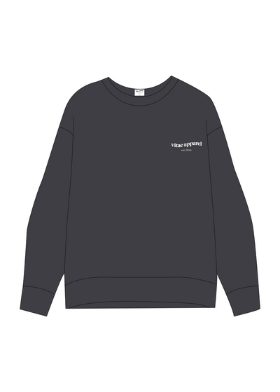 All Day Everyday Crewneck Toasted Grey