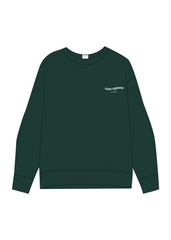 All Day Everyday Crewneck Forest Green