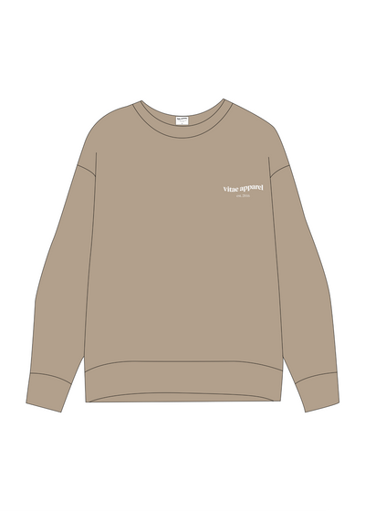 All Day Everyday Crewneck Cappuccino
