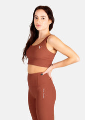 Ultra Boost Ribbed Sports Bra Chocolate Mocha