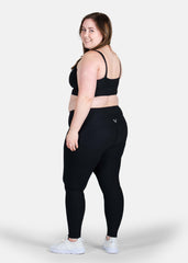 Ultra Boost Ribbed Leggings Black