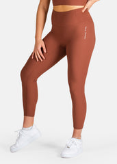 Ultra Boost Ribbed Leggings Chocolate Mocha