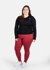 Ultra Feel Seamless Leggings Red Wine