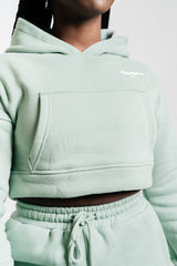 Simply Slay Cropped Hoodie Melon Green